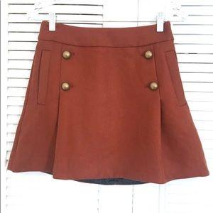 Express - Burnt Orange Mini Skirt! (Size 2)